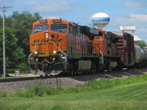 Hinckley, Illinois train by David Wilson